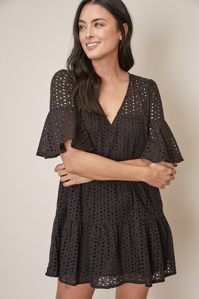 Feeling Pretty Eyelet Dress