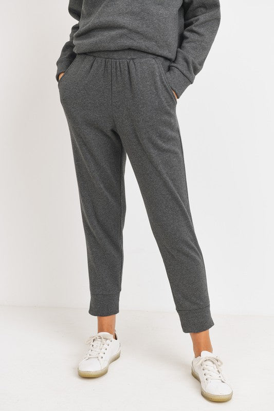 Clara Cropped French Terry Joggers