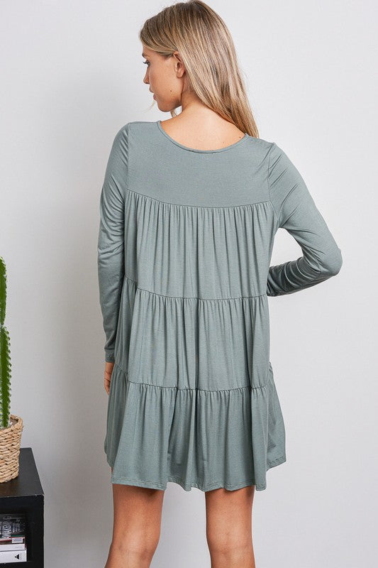 Jessica Tiered Long Sleeve Dress