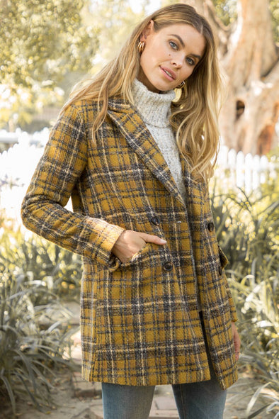 Upstate Plaid Coat