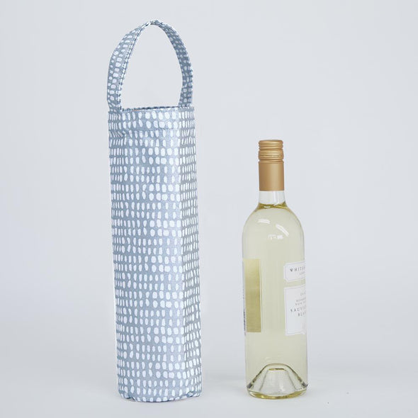 Silver Dots Wine Gift Bag