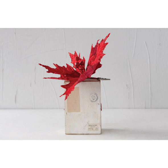 Clip-On Poinsettia Ornament