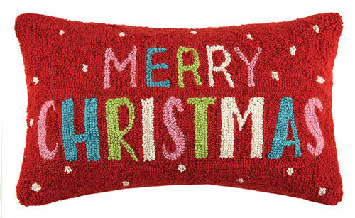 Merry Christmas Hook Pillow
