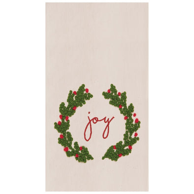 Joy Wreath Tea Towel