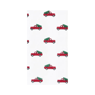 Red Truck w/ Tree Tea Towel