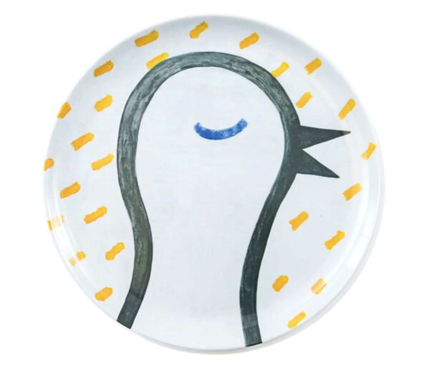 Bird From The Sun Is Up Melamine Plate