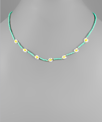 Pocomoke Beaded Floral Necklace