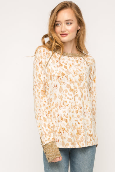 Sierra Thermal Leopard Top