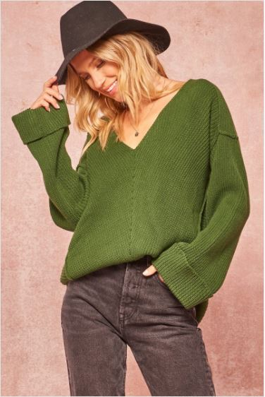 Sherwood Ribbed Knit Sweater