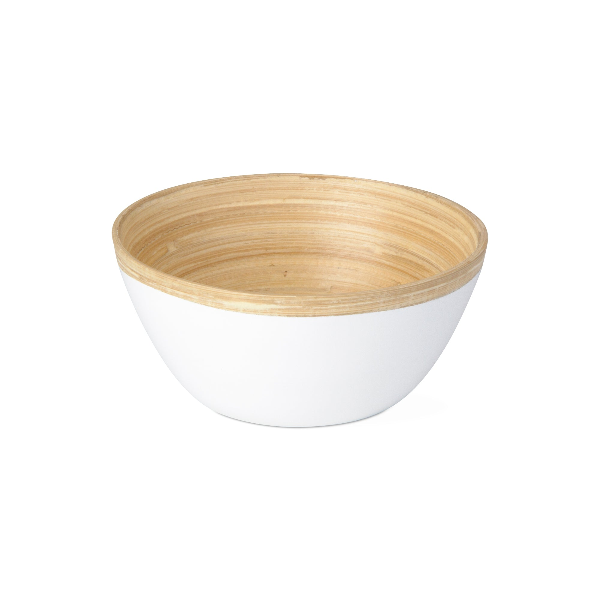 White Bamboo Lacquer Serving Bowl