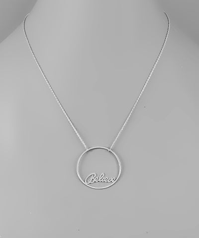 Believe Circle Necklace