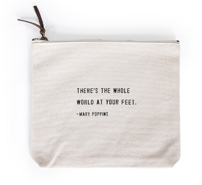 Canvas Zip Pouch - Mary Poppins
