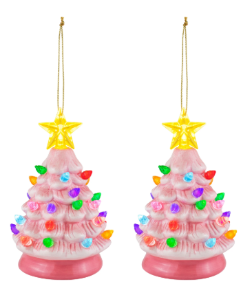 "5.5"" Nostalgic Tree Ornament - Pink"