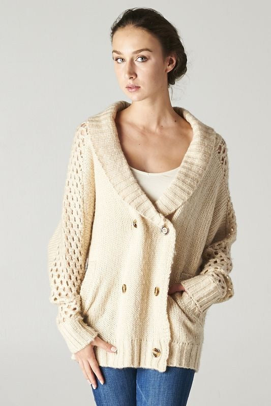 Cozy Double Breasted Cardigan