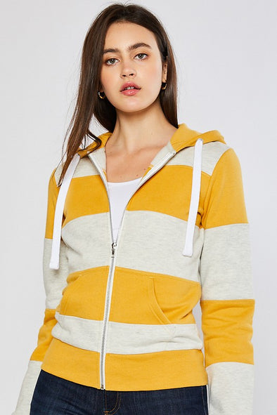 Out of Your League Striped Hoodie