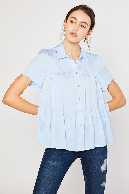 Lolly Tiered Hem Top