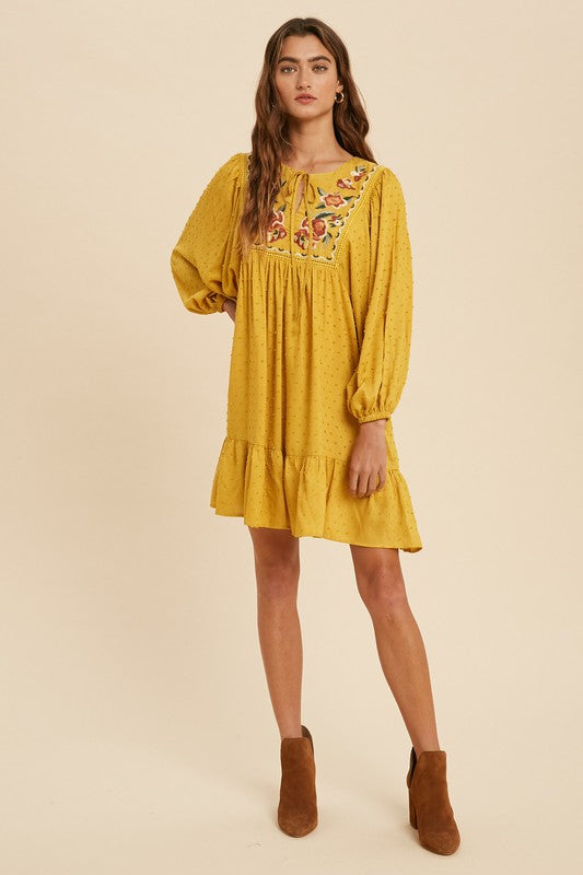 Bree Embroidered Dress