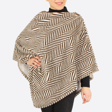 London Herringbone Poncho