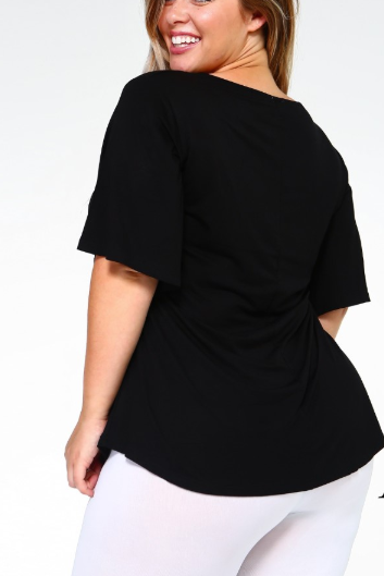 Night Owl Bell Sleeve Top
