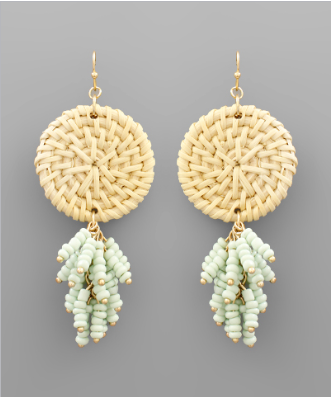 Ridgely Woven Tassel Earrings