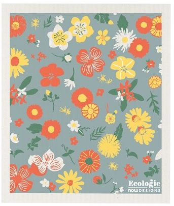 Flowers of the Month Swedish Dishcloth