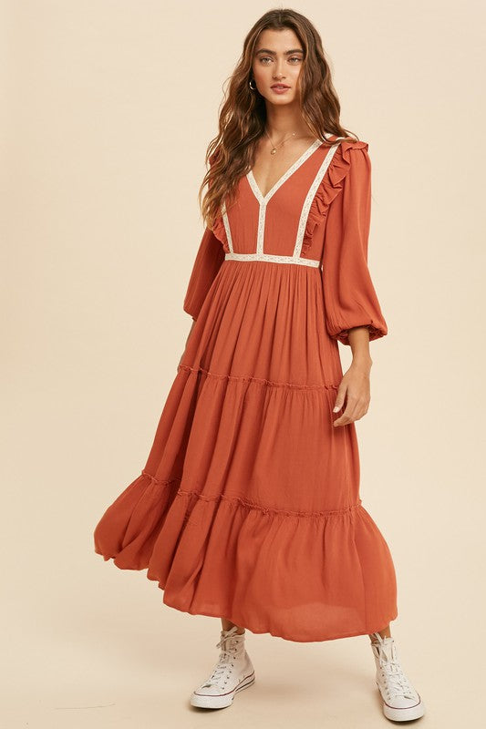 Tanya Ruffle Dress