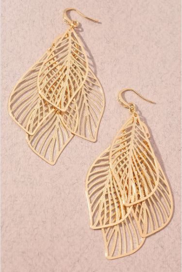 Turn Over a New Leaf Earrings