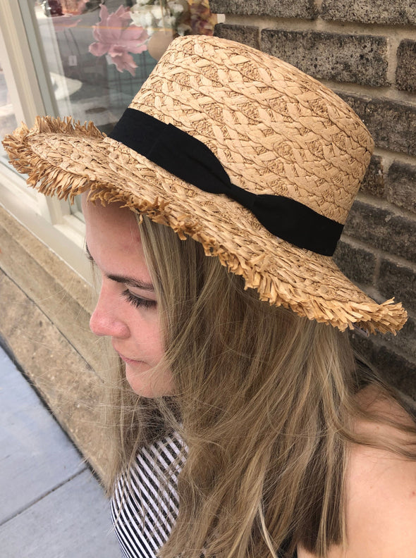 Straw Ribbon Hat