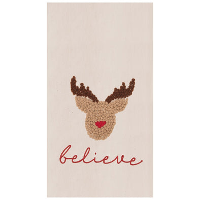 Believe Reindeer Tea Towel