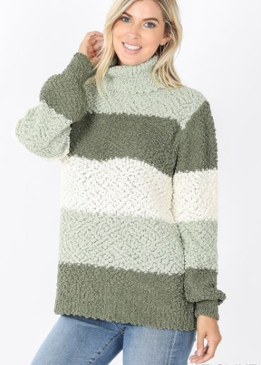 Bryson Striped Popcorn Sweater