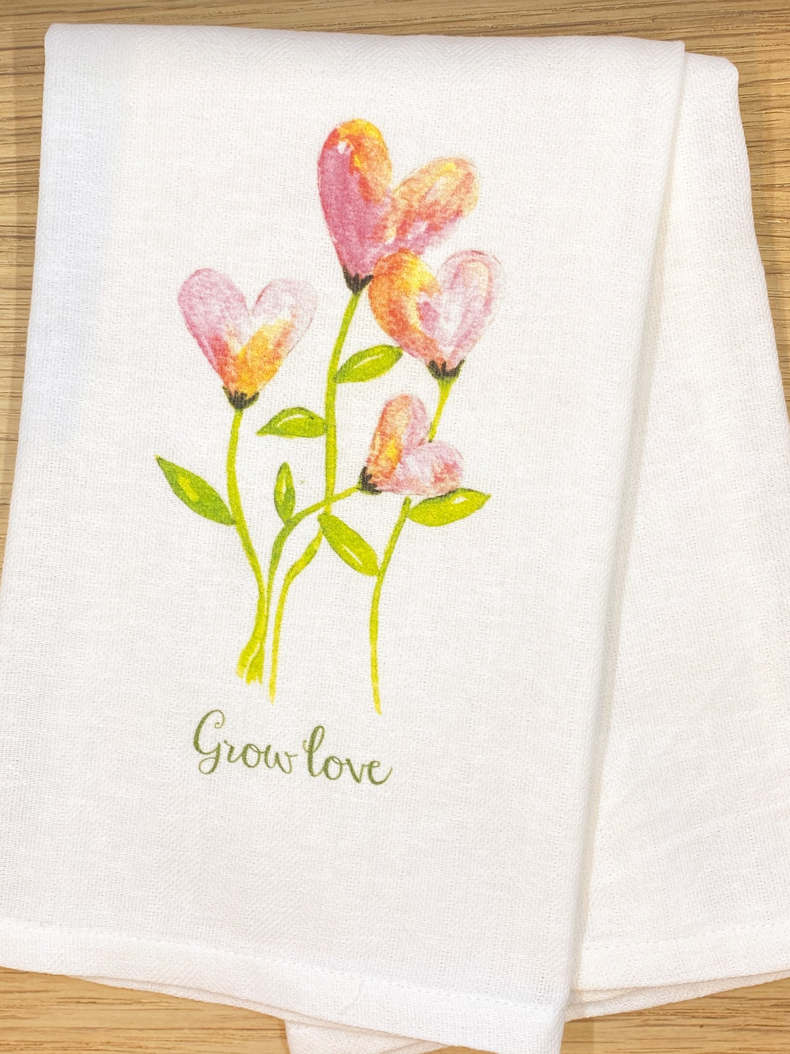 Grow Love Dishtowel