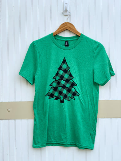 Plaid Tree Tee