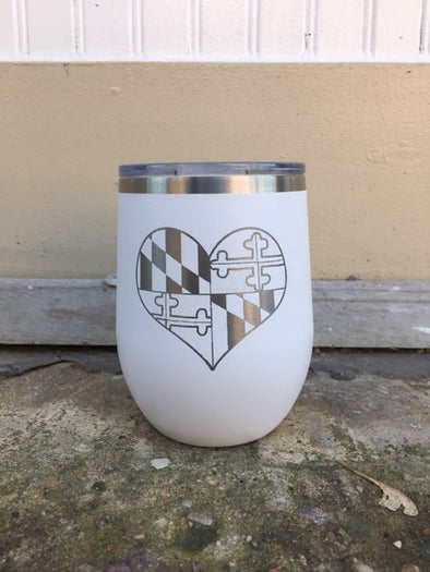 MD Flag Heart Tumbler