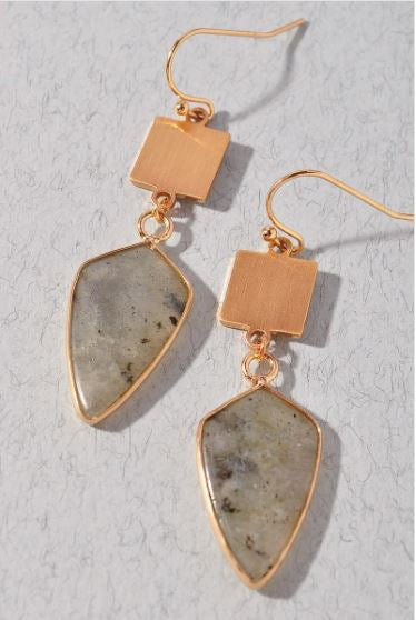 Rosé Dangle Earrings