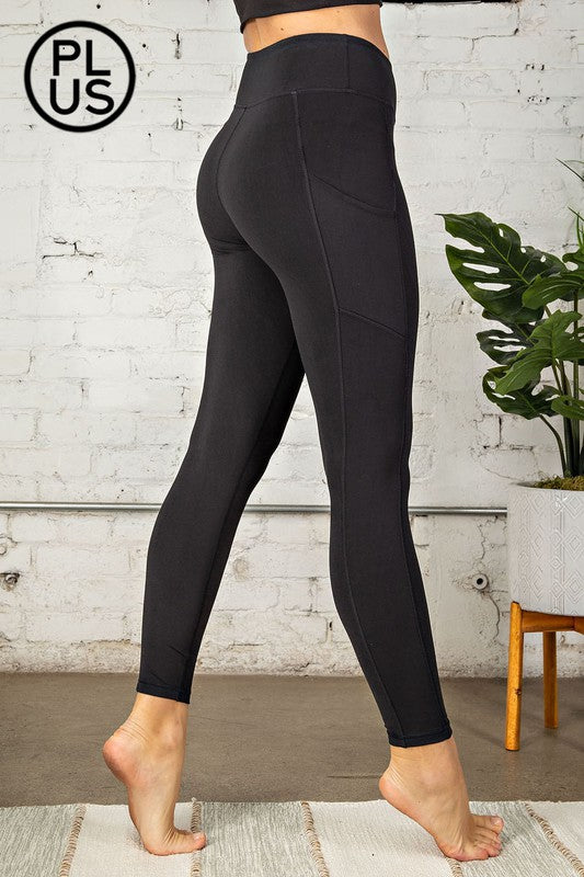 Plus Size, Butter Leggings with Side Pockets