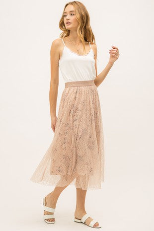 Lacey Skirt with Floral Lining
