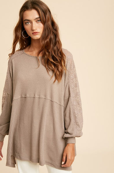 Linnette Waffle Lace Tunic
