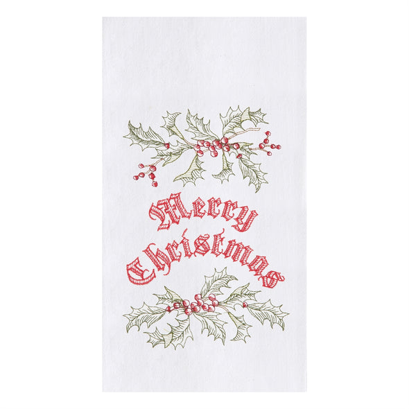 Wenham Holly Christmas Tea Towel