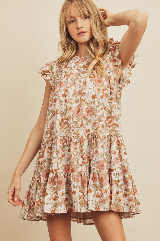 Celia Floral Cinched Dress