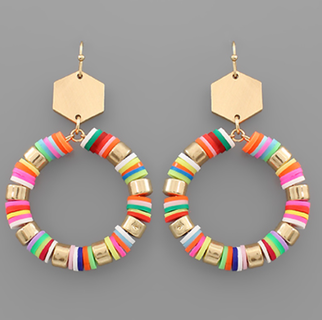 Lolli Beaded Circle Earrings