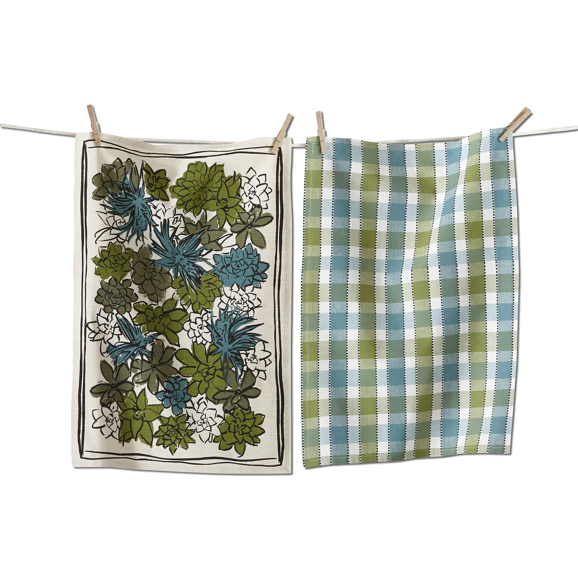 Succulent Dishtowel Set