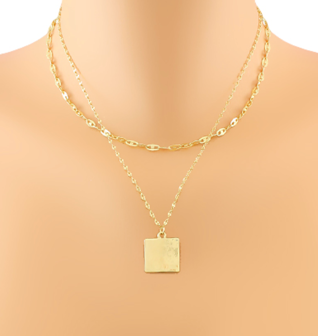 Minnie Square Charm Layer Choker
