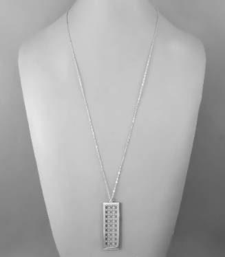 Bel Air Geo Grid Necklace