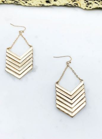 Houston Chevron Earrings