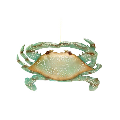 Speckled Seafoam Crab Ornament