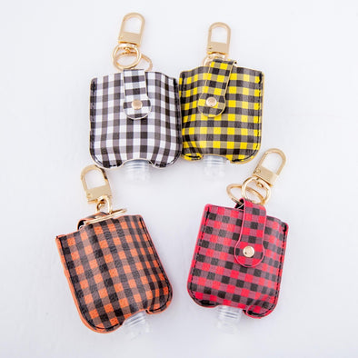 Buffalo Check Sanitizer Holder