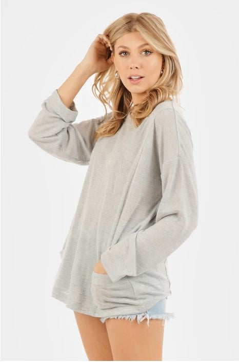 Pocket Full of Sunshine Slouchy Top