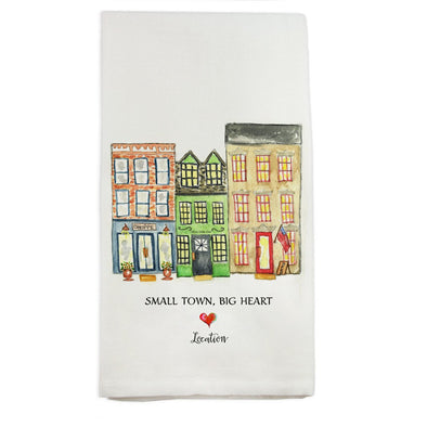 Small Town, Big Heart Teatowel