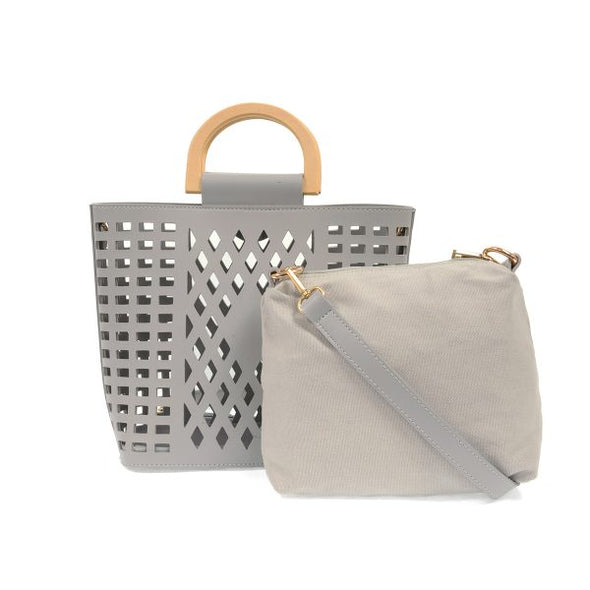 Madison Cut Out Tote - Grey