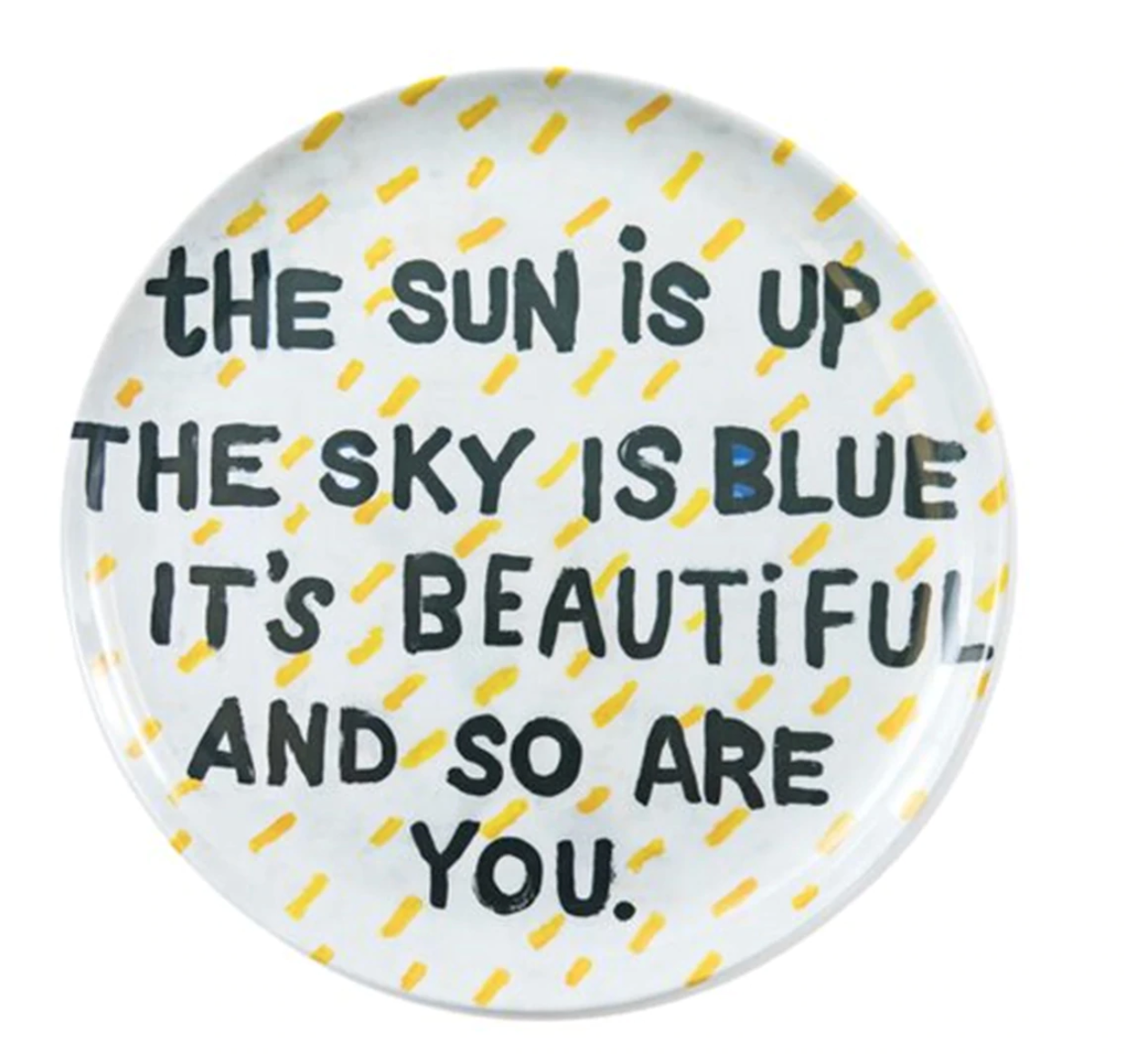 The Sun Is Up Melamine Plate